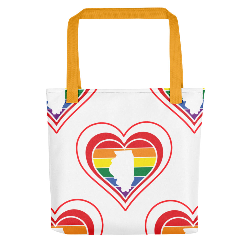 Illinois Retro Pride Heart - Tote bag