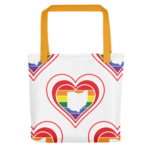 Ohio Retro Pride Heart - Tote bag