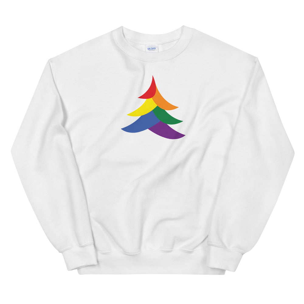 Solid Abstract Pride Tree Holiday 2019 - Unisex Sweatshirt