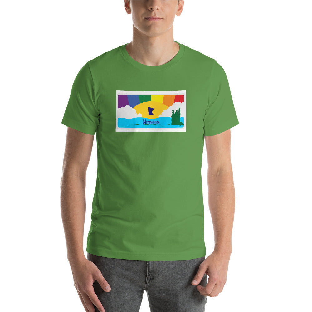 Minnesota Pride Rainbow Sunset - Short-Sleeve Unisex T-Shirt