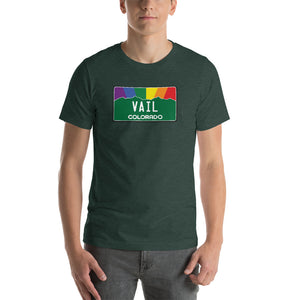 Vail Colorado Pride Rainbow Sunset Short-Sleeve Unisex T-Shirt