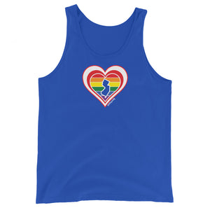 New Jersey Retro Pride Heart - Unisex Tank Top