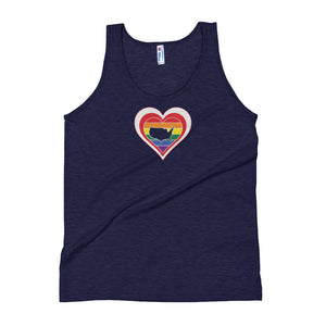 United States Retro Pride Heart - Unisex Tank Top