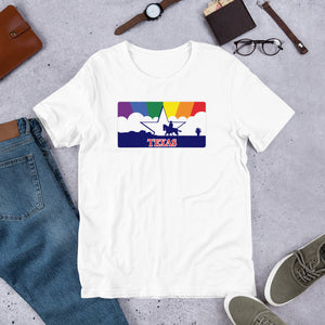 Texas Pride Rainbow Sunset - Short-Sleeve Unisex T-Shirt