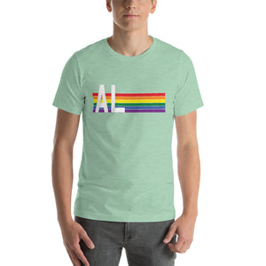 Alabama Pride Retro Rainbow Short-Sleeve Unisex T-Shirt