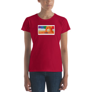 Utah Pride Rainbow Sunset Women's short sleeve t-shirt