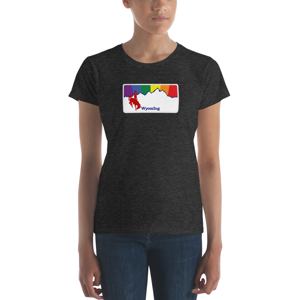 Wyoming Pride Rainbow Sunset Women's short sleeve t-shirt