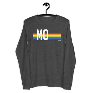 Missouri Pride Retro Rainbow - Unisex Long Sleeve Tee