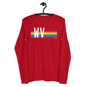 West Virginia Pride Retro Rainbow - Unisex Long Sleeve Tee