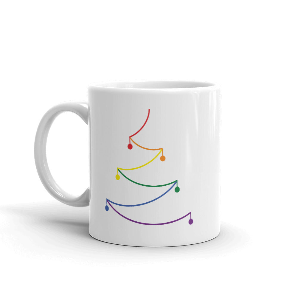 Abstract Line Pride Tree Holiday 2019 Mug