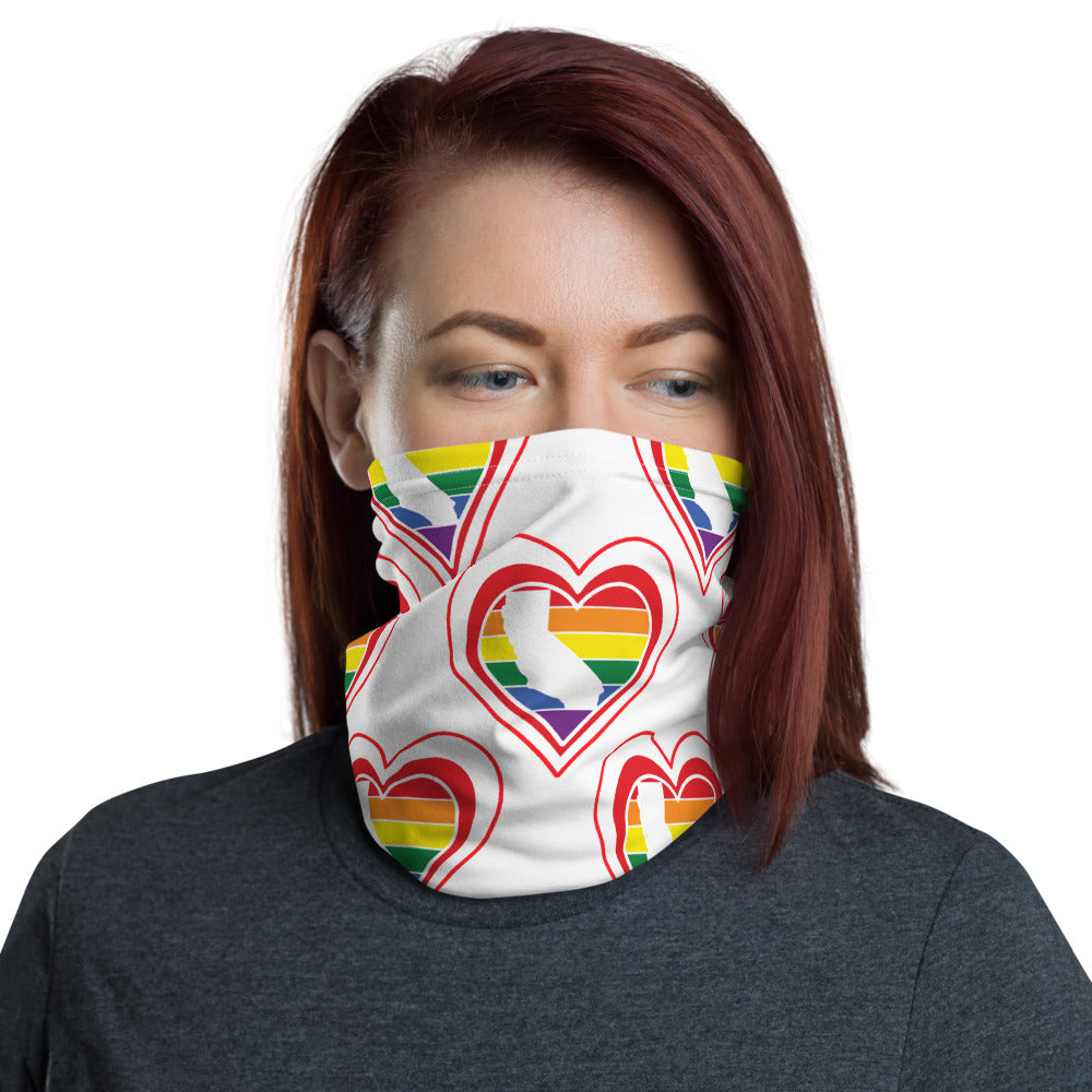 California Retro Pride Heart - Neck Gaiter