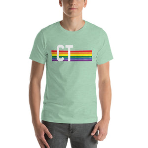 Connecticut Pride Retro Rainbow Short-Sleeve Unisex T-Shirt