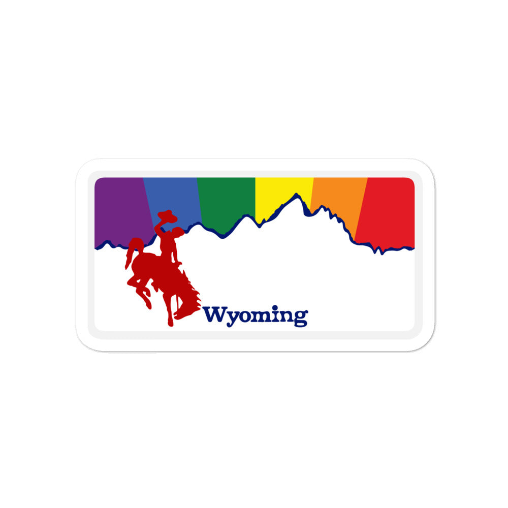 Wyoming Pride Rainbow Sunset sticker
