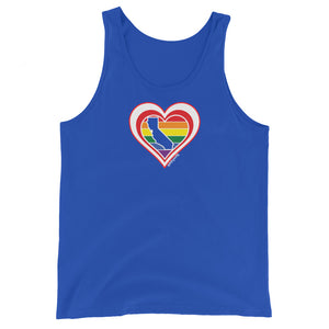 California Retro Pride Heart - Unisex Tank Top