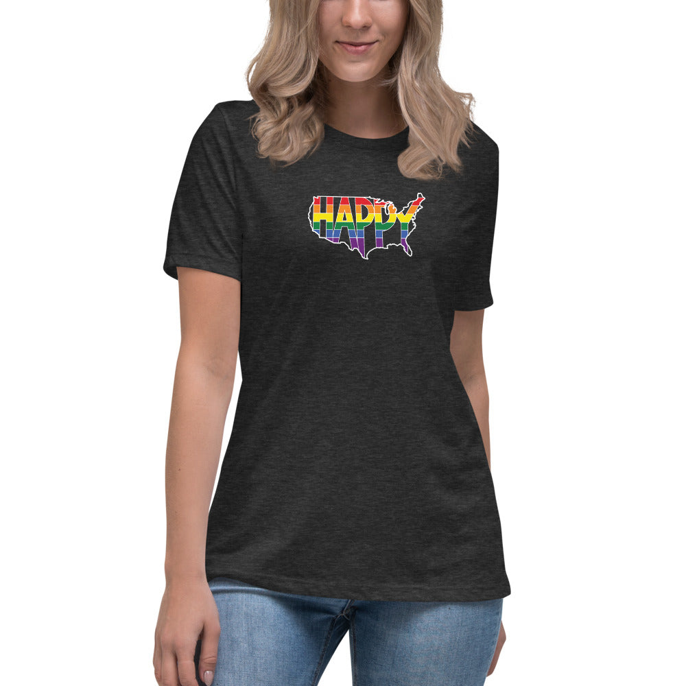 America Happy - Retro Pride - Women's Relaxed T-Shirt