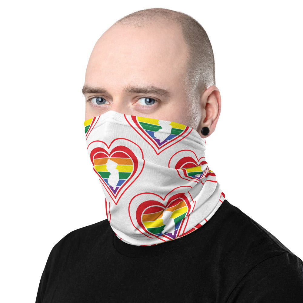 New Jersey Retro Pride Heart - Neck Gaiter