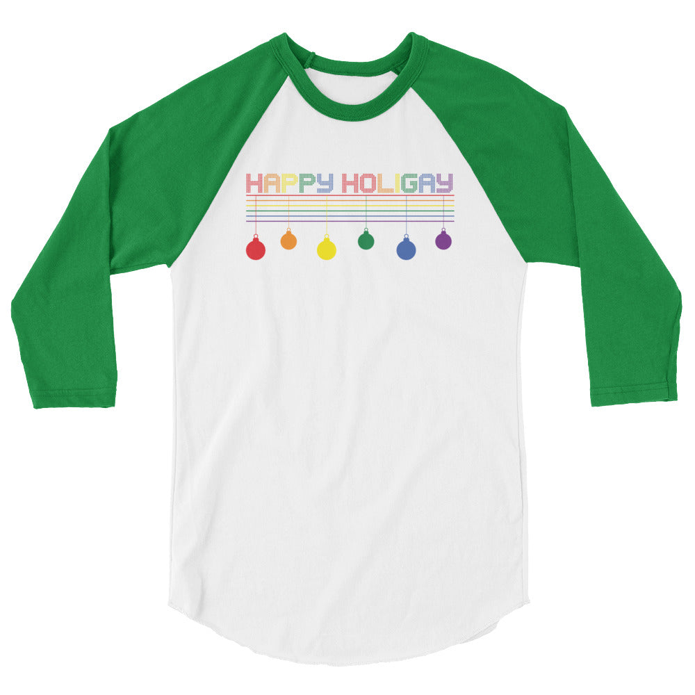 Happy Holigay Checkered - 3/4 sleeve raglan shirt