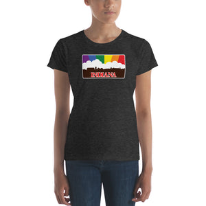 Indiana Pride Rainbow Sunset Women's short sleeve t-shirt