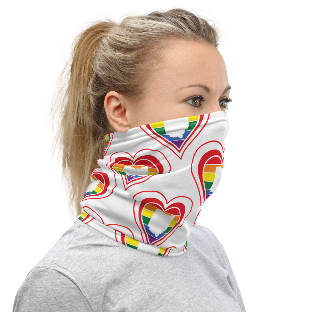 Ohio Retro Pride Heart - Neck Gaiter
