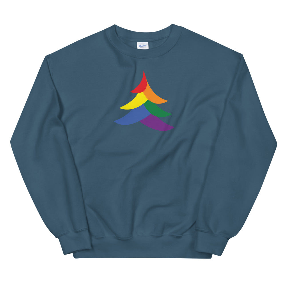Solid Abstract Pride Tree Holigay - Unisex Sweatshirt