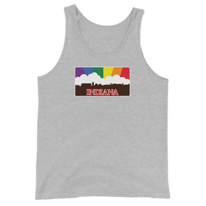 Indiana Pride Rainbow Sunset Unisex  Tank Top