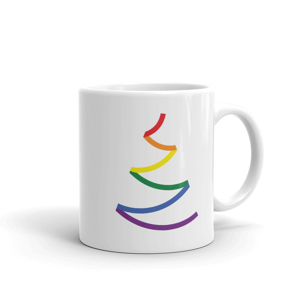 Bold Line Pride Tree Holigay Mug