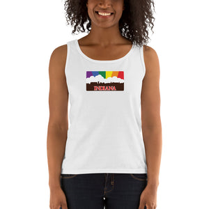 Indiana Pride Rainbow Sunset Ladies' Tank