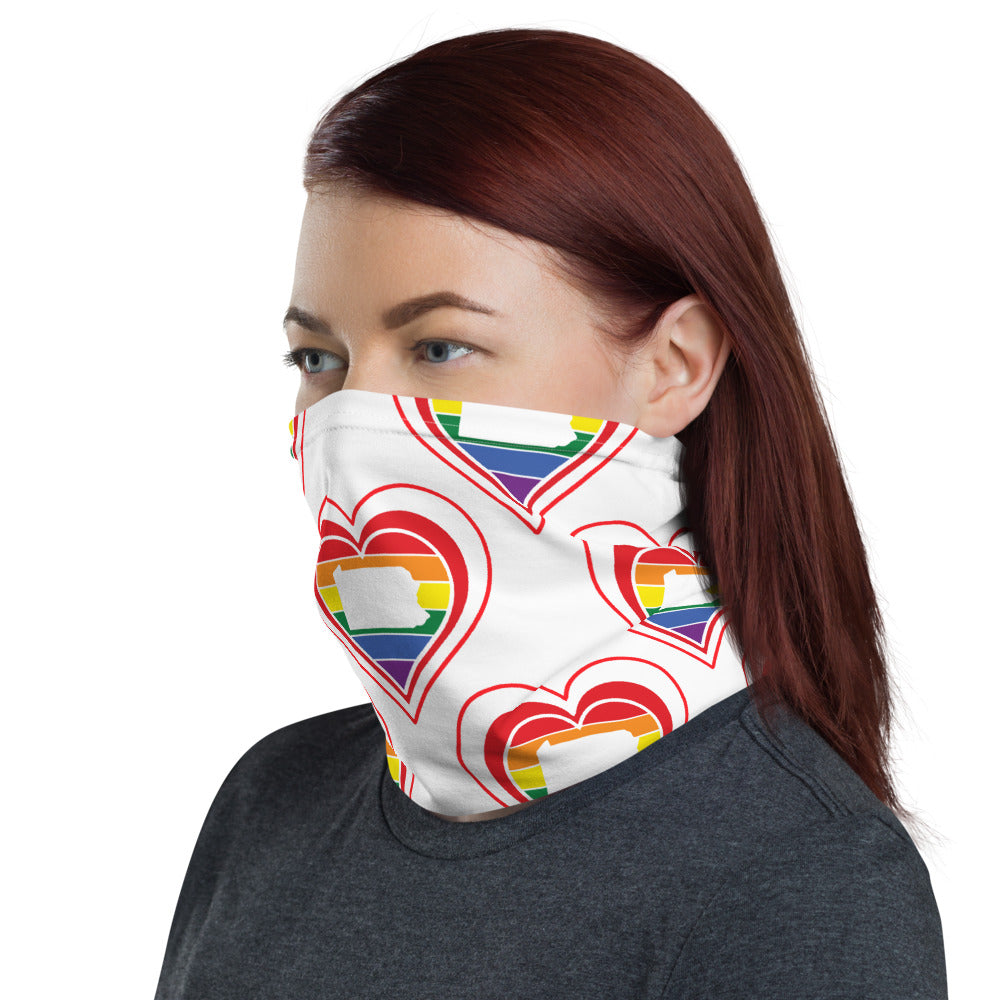 Pennsylvania Retro Pride Heart - Neck Gaiter
