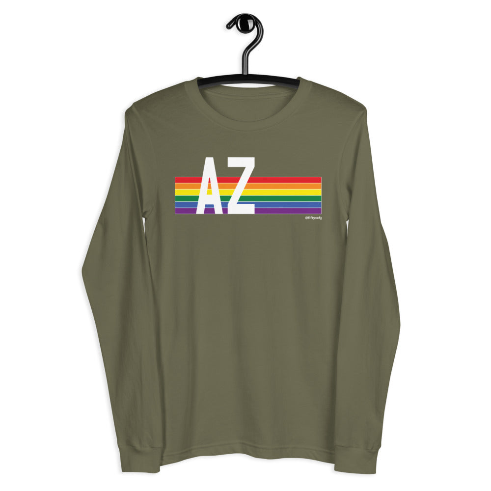 Arizona Pride Retro Rainbow - Unisex Long Sleeve Tee