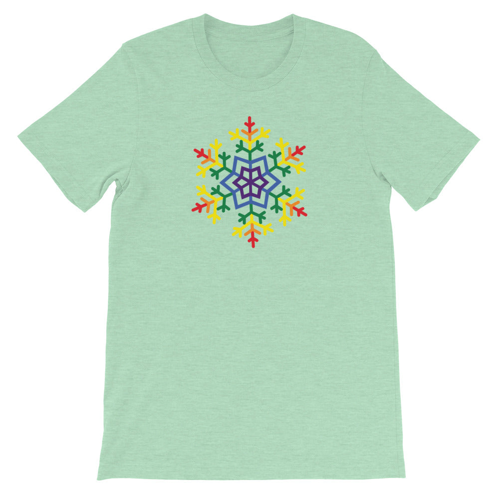 Pride Burst Snowflake Winter 2020 - Short-Sleeve Unisex T-Shirt