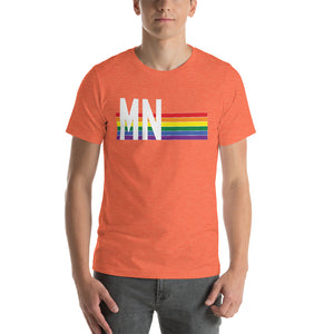 Minnesota Pride Retro Rainbow Short-Sleeve Unisex T-Shirt