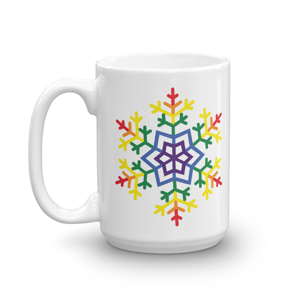 Pride Burst Snowflake Winter 2020 Mug