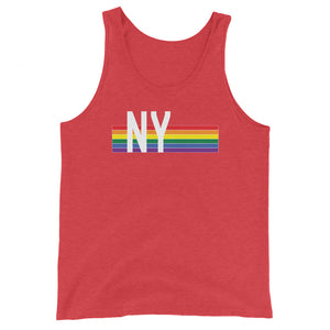 New York Retro Pride Rainbow - Unisex Tank Top