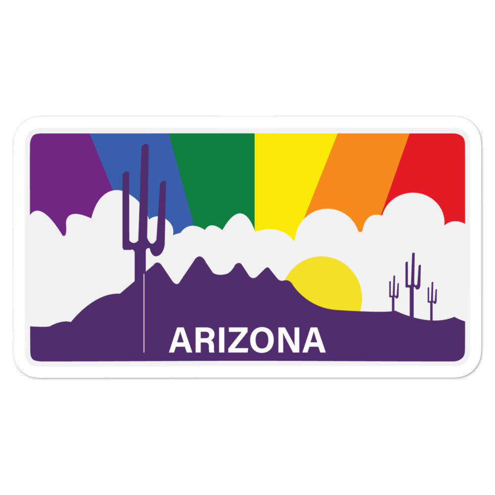 Arizona Rainbow Pride Sunset sticker
