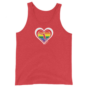 Florida Retro Pride Heart - Unisex Tank Top