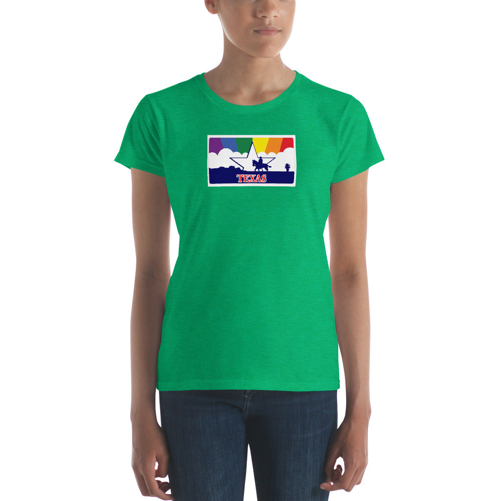 Texas Pride Rainbow Sunset Women's short sleeve t-shirt