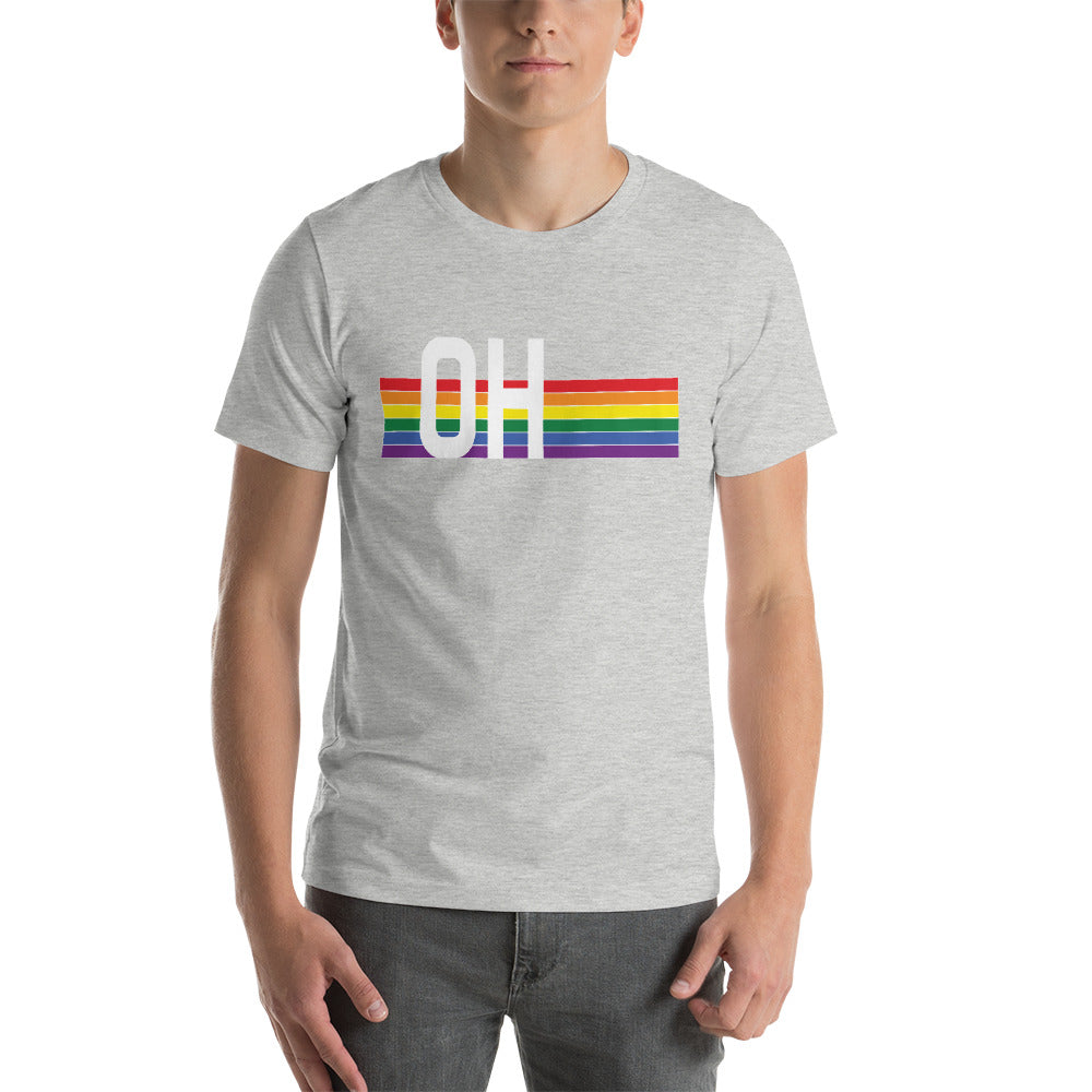 Ohio Pride Retro Rainbow Short-Sleeve Unisex T-Shirt