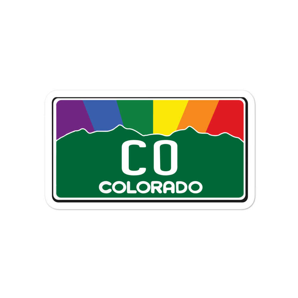Colorado Pride Rainbow Sunset sticker