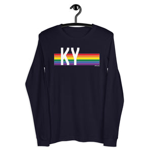 Kentucky Pride Retro Rainbow - Unisex Long Sleeve Tee