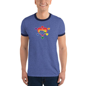 United States Hearts of Pride - Ringer T-Shirt