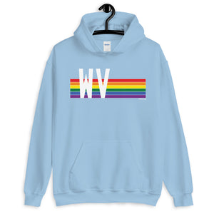 West Virginia Pride Retro Rainbow - Unisex Hoodie