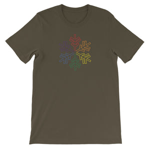 Pride Rainbow Outline Snowflake Winter 2020 - Short-Sleeve Unisex T-Shirt