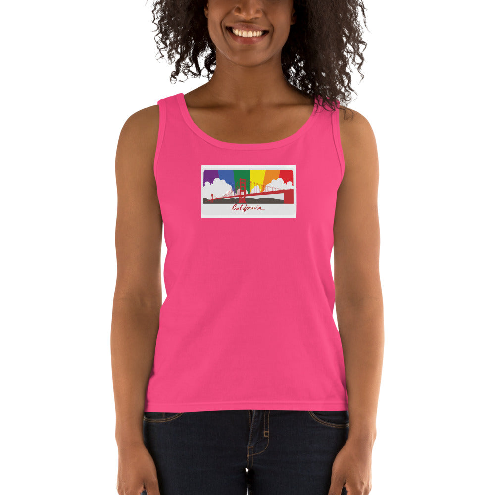 California Pride Rainbow Sunset Ladies' Tank