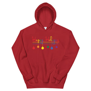 Happy Holigay Cursive Holiday - Unisex Hoodie