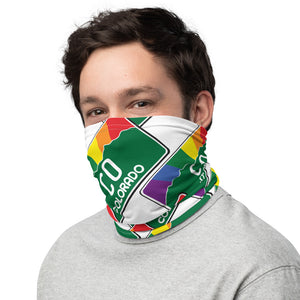 Colorado Pride Rainbow Sunset -Brick Pattern - Neck Gaiter