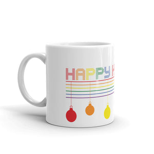 Happy Holigay Checkered Holiday 2019 Mug