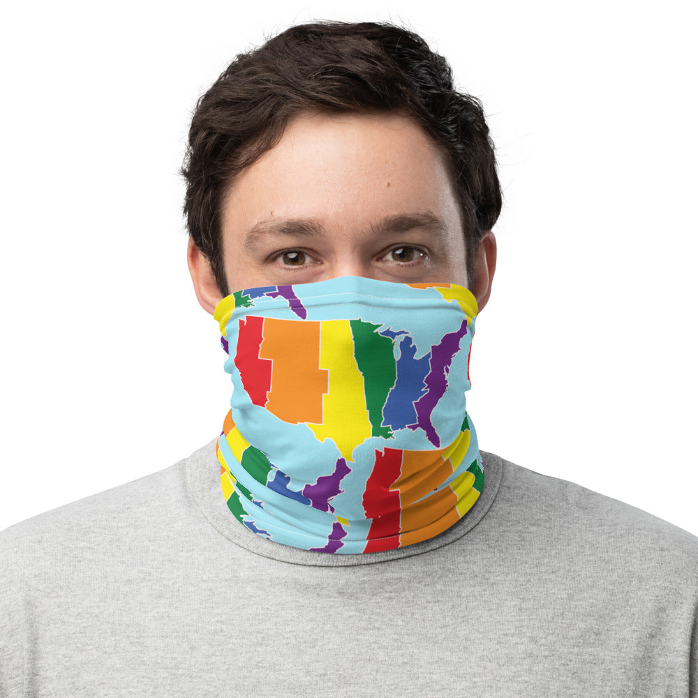 United States Solid Rainbow - Neck Gaiter