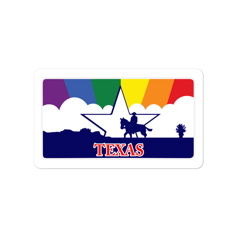Texas Pride Rainbow Sunset sticker
