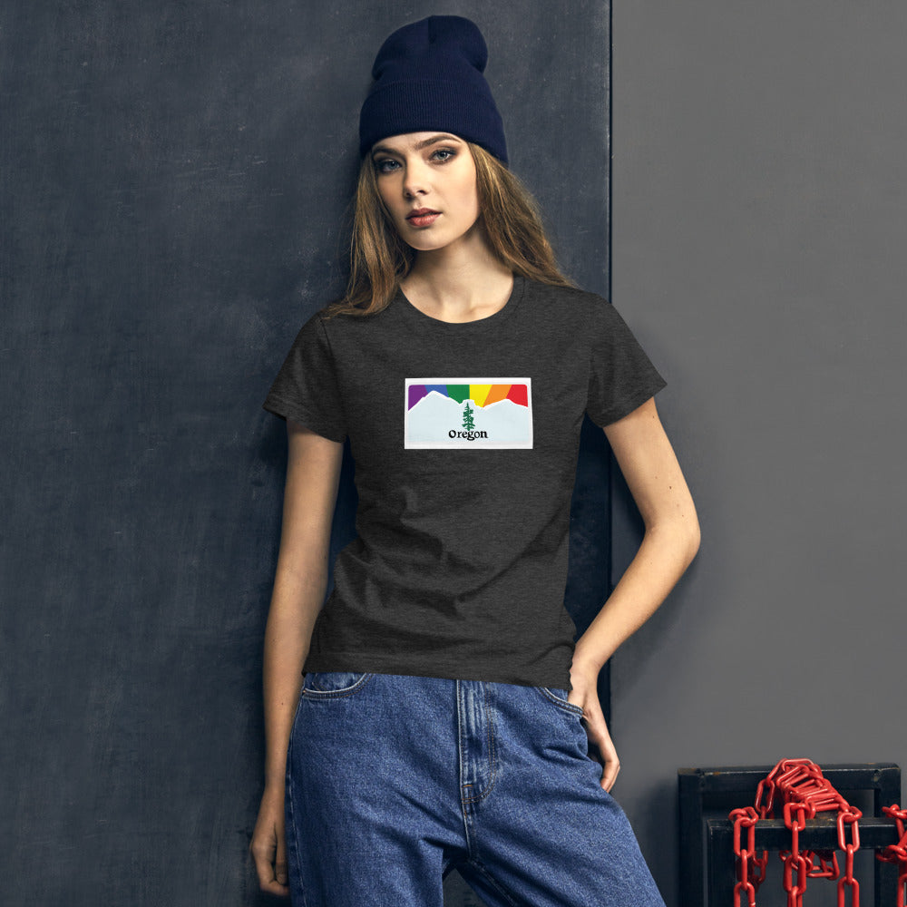 Oregon Pride Rainbow Sunset Women's short sleeve t-shirt