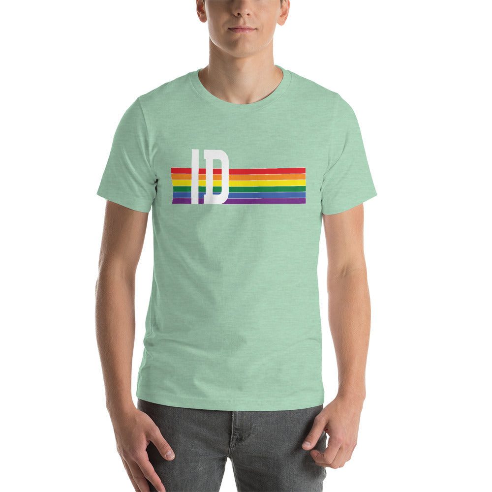 Idaho Pride Retro Rainbow Short-Sleeve Unisex T-Shirt